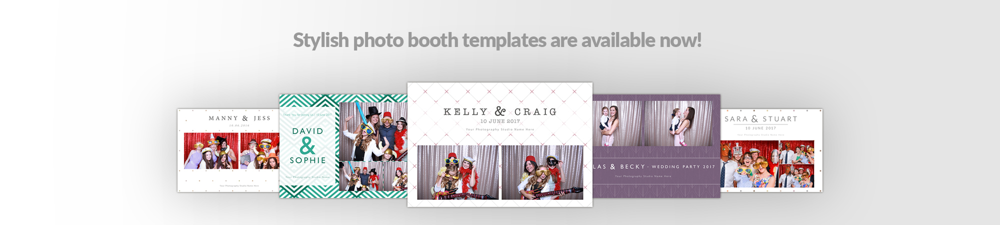 photo booth business page image click to see various templates