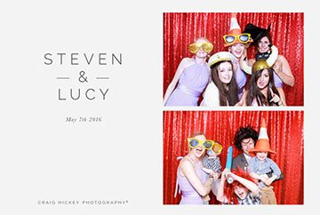 photo booth hire leicester image taken by The Photopod with red backdrop