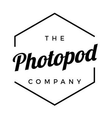 Photo booth pod The Photopod Company logo