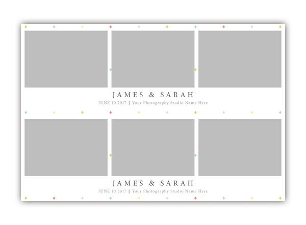 Diamond Photo Booth Template 2x6 Strip 3