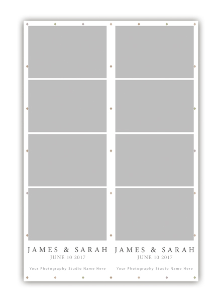 Diamond Photo Booth Template 2x6 Strip 4
