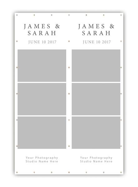 Diamond Photo Booth Template 2x6 Strip 5