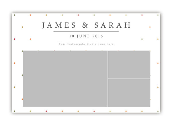 Diamond Photo Booth Template 6x4 Style 3