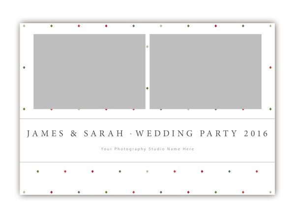 Diamond Photo Booth Template 6x4 Style 5