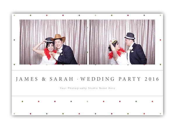 Diamond photo booth templates