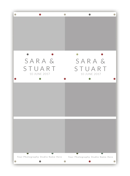 Dots Photo Booth Single template