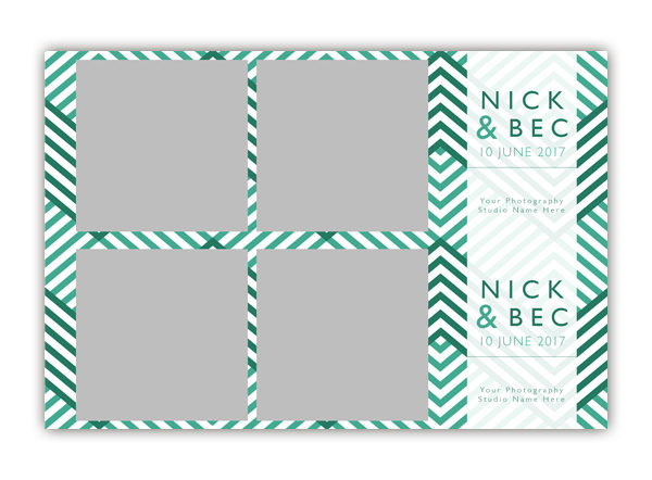 ZigZag Photo Booth Single Template 2x6 Strip 2