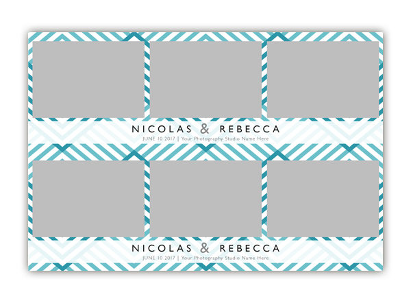 ZigZag Photo Booth Single Template 2x6 Strip 3