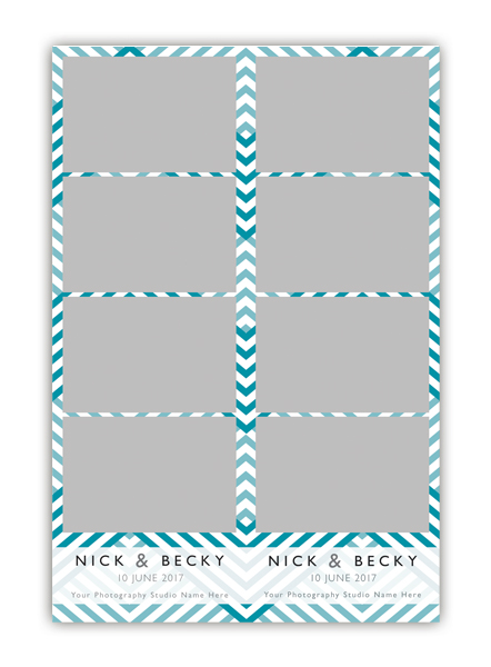 ZigZag Photo Booth Single Template 2x6 Strip 4