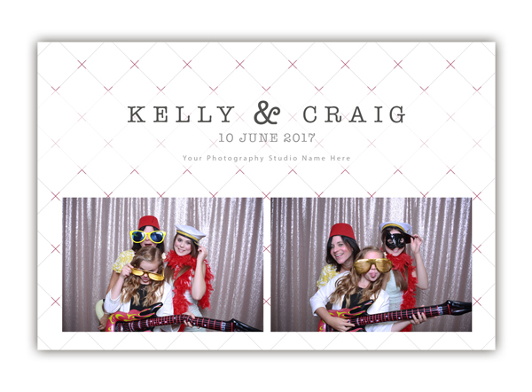 Checkered photo booth templates