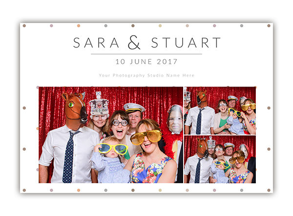Dots photo booth template