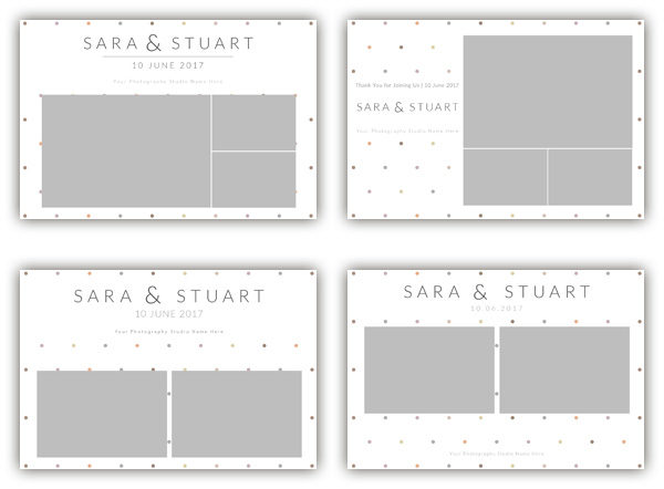dots subtle photo booth template