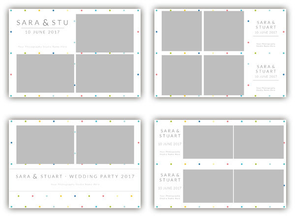 dots summer photo booth template