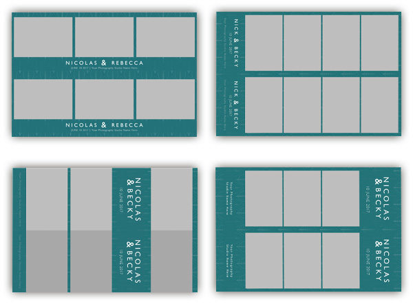 leaf teal photo booth templates