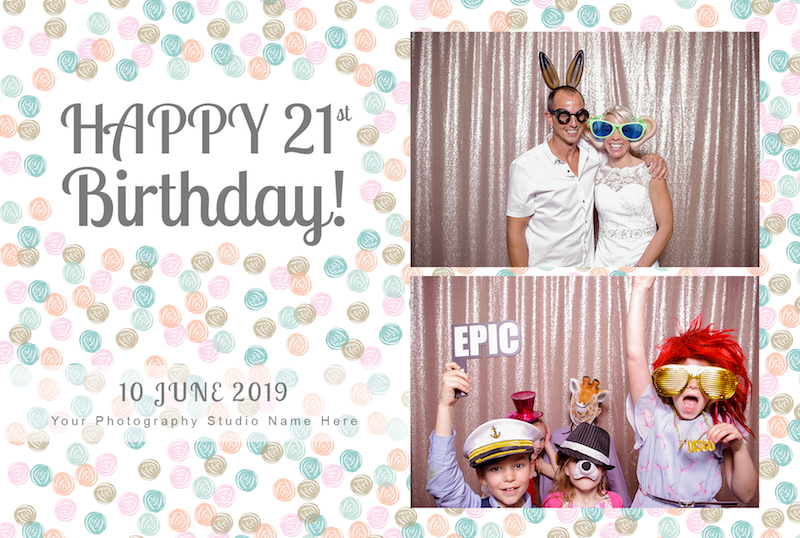 photo booth happy birthday