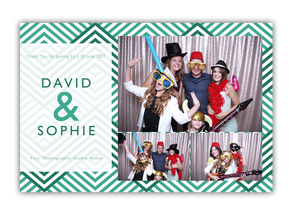 ZigZag photo booth template