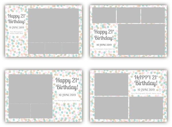 Happy Birthday photo booth template collection - The Photopod Company