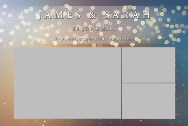 photo booth template golden lights